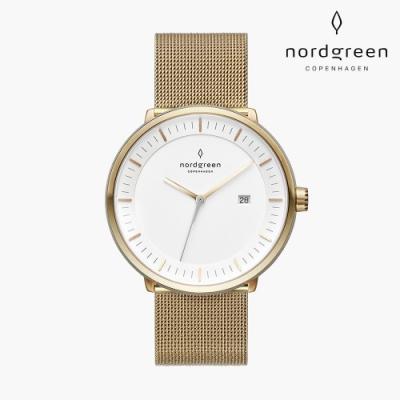 【Nordgreen】Philosopher 哲學家 香檳金系列 香檳金 鈦鋼米蘭錶帶手錶 40mm