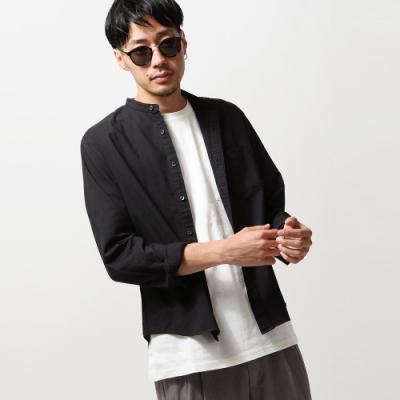 日本製立領牛津襯衫長袖(9色) ZIP日本男裝