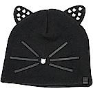 KARL LAGERFELD Choupette 珍珠貓咪密實針織毛線帽(黑色)