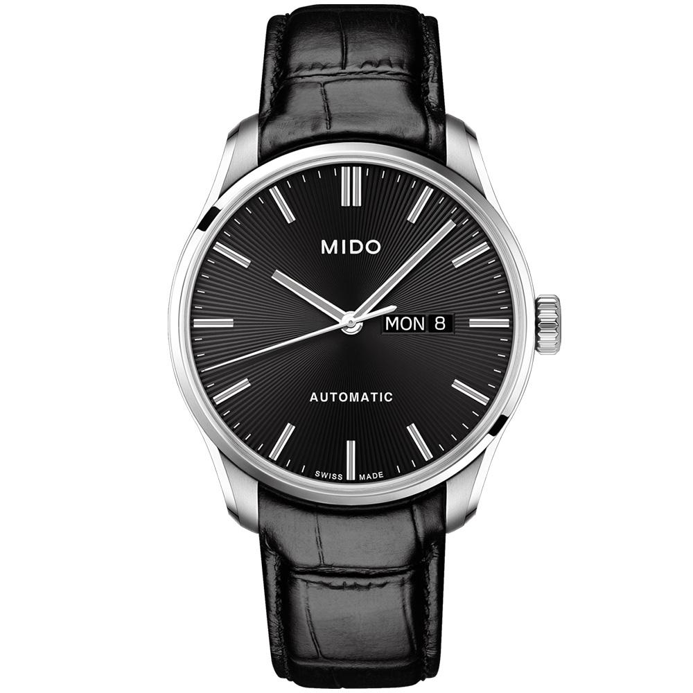 MIDO 美度 BELLUNA II 經典機械腕錶-黑/42mm