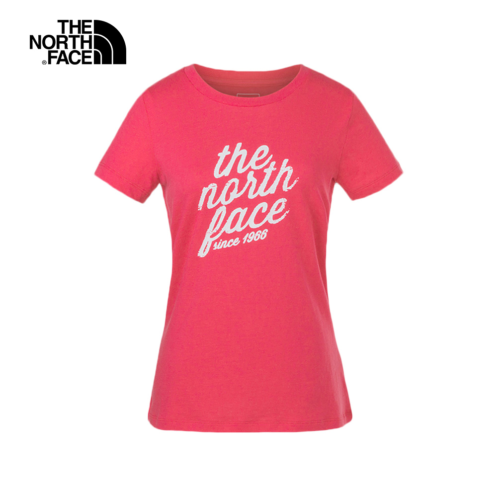 The North Face北面女款粉色透氣休閒短袖T恤|3LBFVC6