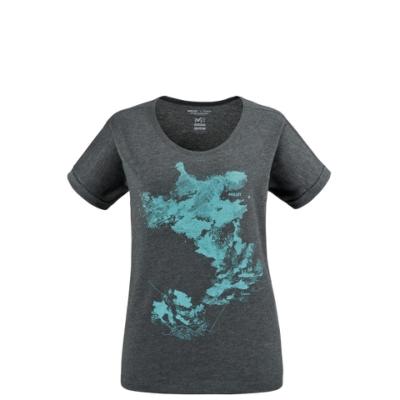 MILLET 女 ANGEL LIMITED 短袖排汗T恤 鐵灰-MIV86858773