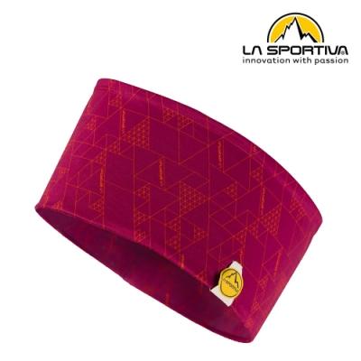 【義大利 LA SPORTIVA】Protect Headband 幾何圖形運動頭帶 紅色 #Y08310203