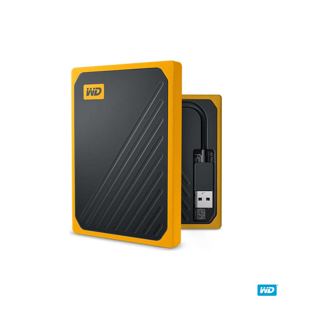 WD My Passport Go 500GB(黑/琥珀黃) 外接式固態硬碟