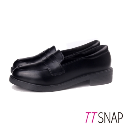 TTSNAP牛津鞋-簡約學院風時尚學生鞋 黑
