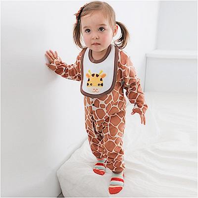 baby童衣 條紋動物裝連身衣 3件套 61037