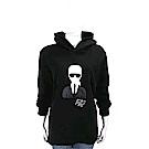 Karl Lagerfeld KARL IN PARIS 老佛爺刺繡黑色連帽運動衫
