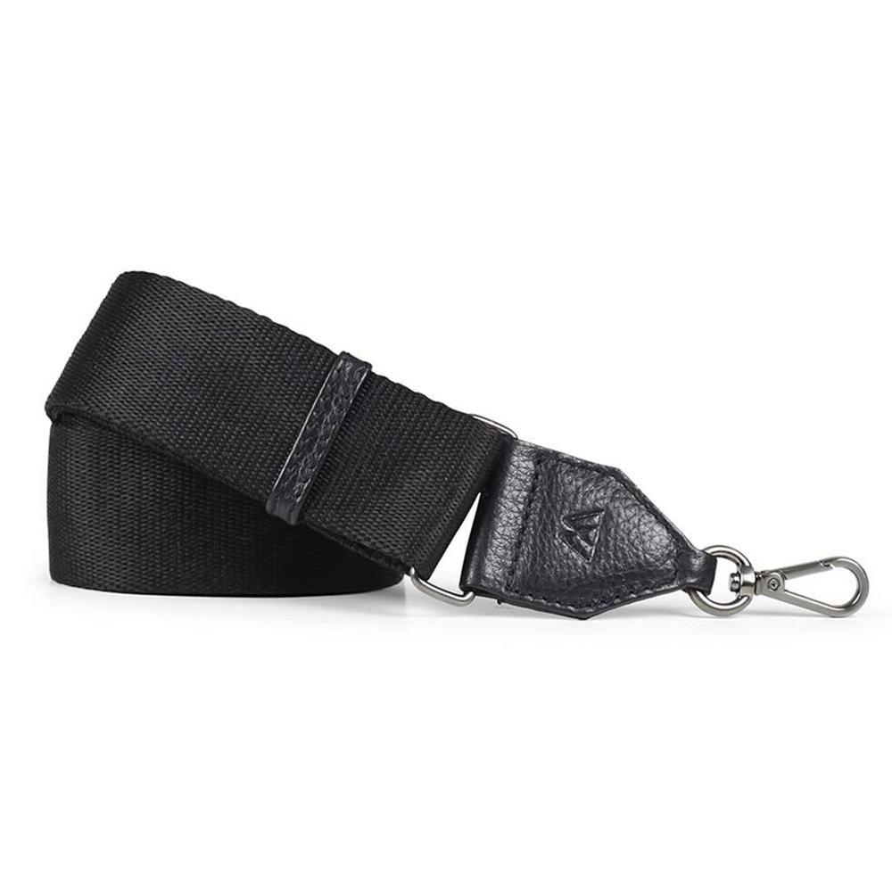 MARKBERG Finley 丹麥手工時尚編織寬版肩揹帶 (極簡黑)