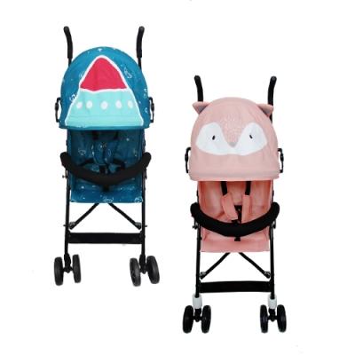 【英國 JOLLY 】輕便超可愛卡通兒童傘車 (火箭/狐狸二色可選)