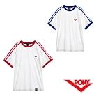 【PONY】運動純棉短袖上衣T恤 男款兩色 白紅 白藍