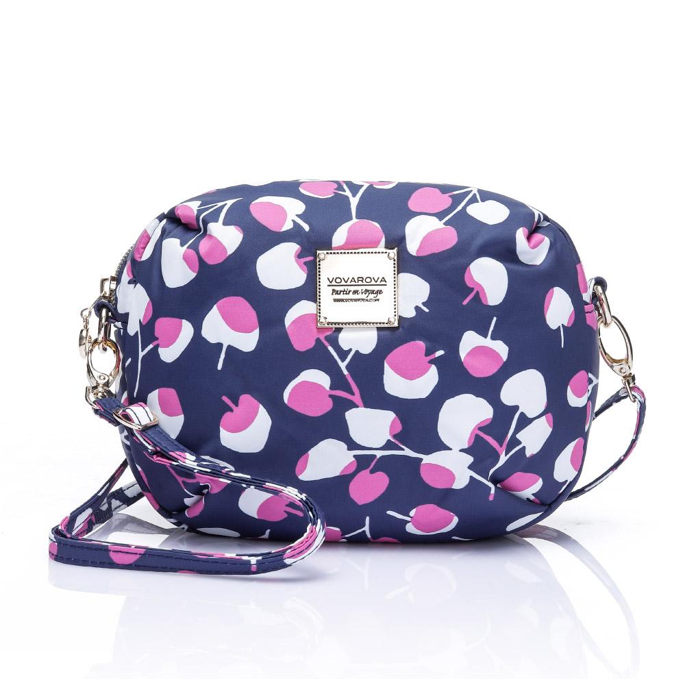 VOVAROVA空氣包-圓鼓鼓側背包-Cherrypicks(Indigo&pink)