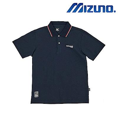 MIZUNO 美津濃 1906 短袖polo 藍 D2TA801514