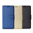 亞古奇 Samsung Galaxy J4+ 6吋 月詩時尚皮套 - 藍金黑