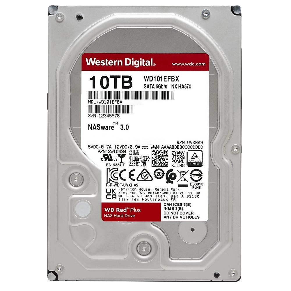 WD 紅標Plus 10TB 3.5吋NAS硬碟(WD101EFBX)