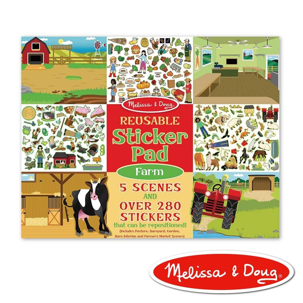 【美國瑪莉莎 Melissa & Doug】 貼紙簿 - 可重複貼紙 - 農場