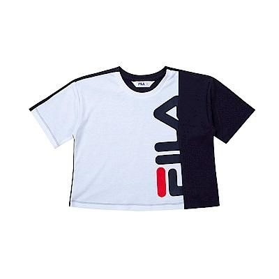 FILA KIDS 童吸濕排汗針織上衣-丈青 5TET-4444-NV