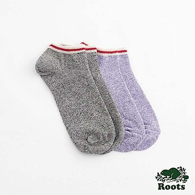 Roots配件- 經典彩色短襪 (女)-藍
