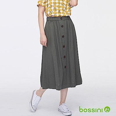 bossini女裝-棉麻長裙灰