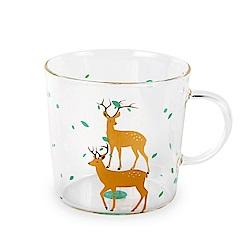 Caldo卡朵生活 童趣動物高硼矽耐熱透明馬克杯