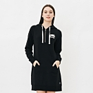 女裝Roots-連帽拉鍊刷毛洋裝-黑