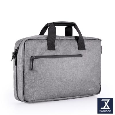 74盎司 Witty 休閒商務電腦側背包(15吋)[G-1057-WI-M]灰