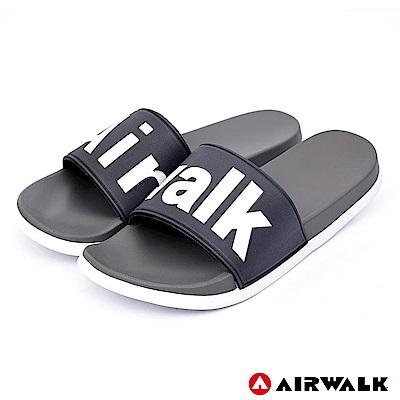 【AIRWALK】 街頭潮流運動拖鞋-灰色