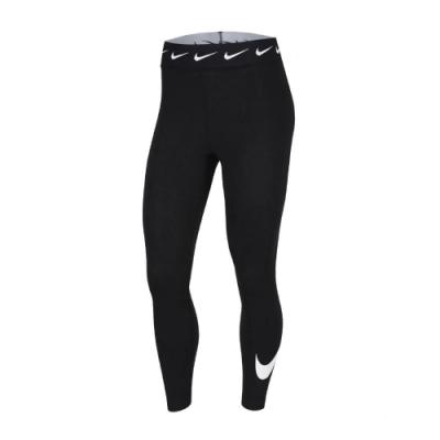 Nike 緊身褲 High-Waisted 運動休閒 女款 NSW 內搭褲 健身 重訓 瑜珈 勾勾 黑 白 CJ1985010