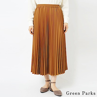 Green Parks 優雅細百褶鬆緊腰長裙