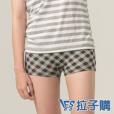 內褲 lesfit菱格紋平口內褲 LESGO內褲