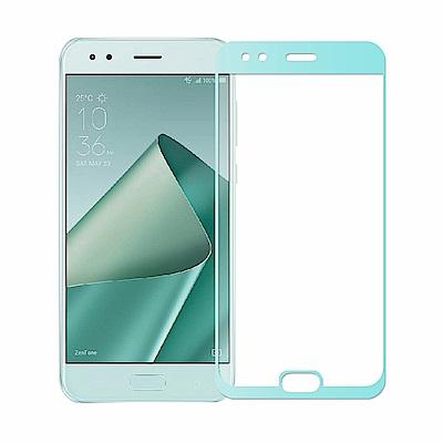 【贈環保吸管組】ASUS ZF4 ZE554KL全膠滿版鋼化日規玻璃保貼-薄荷綠