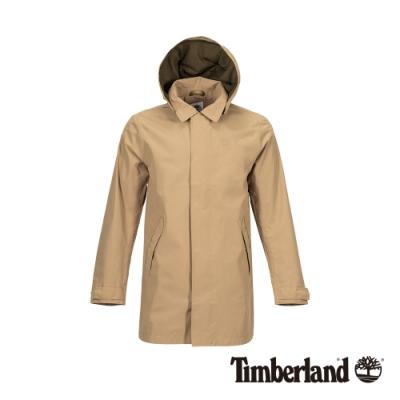 Timberland 男款卡其迷彩綠連帽風衣外套 A1OLZ