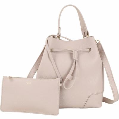[時時樂限定]FURLA Stacy 小款 附萬用包荔紋牛皮手提/斜背水桶包-2色