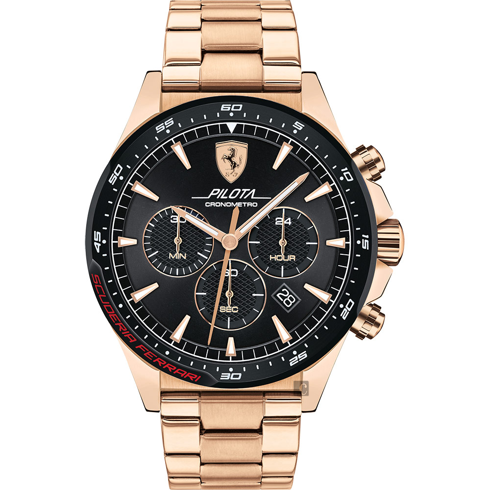 Scuderia Ferrari 法拉利 Pilota 賽車手計時錶(FA0830625)