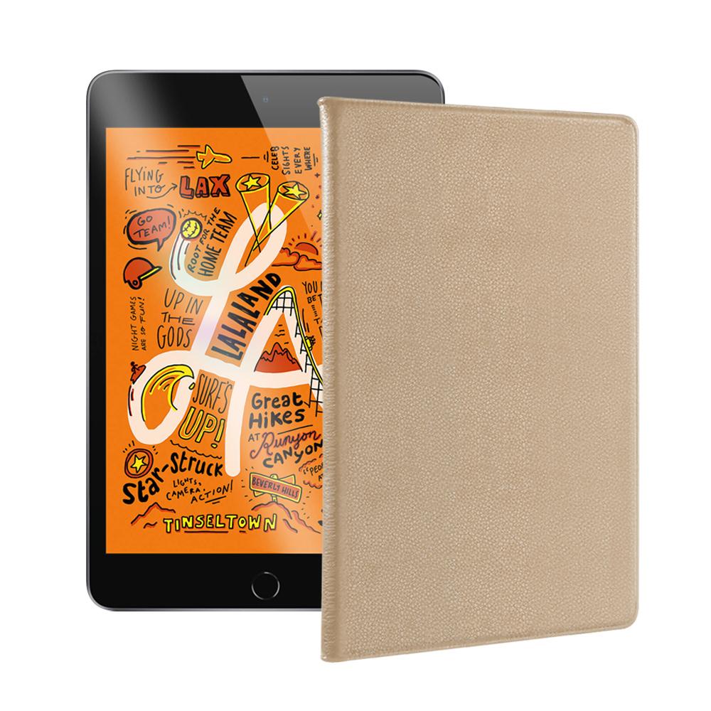 For 2019 iPad mini/iPad mini 5 品味皮革紋皮套