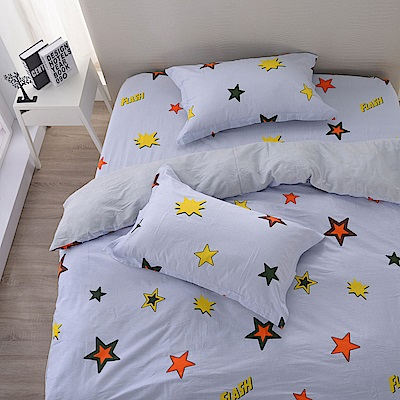 夢工場 閃耀之星精梳棉床包兩用被組-雙人