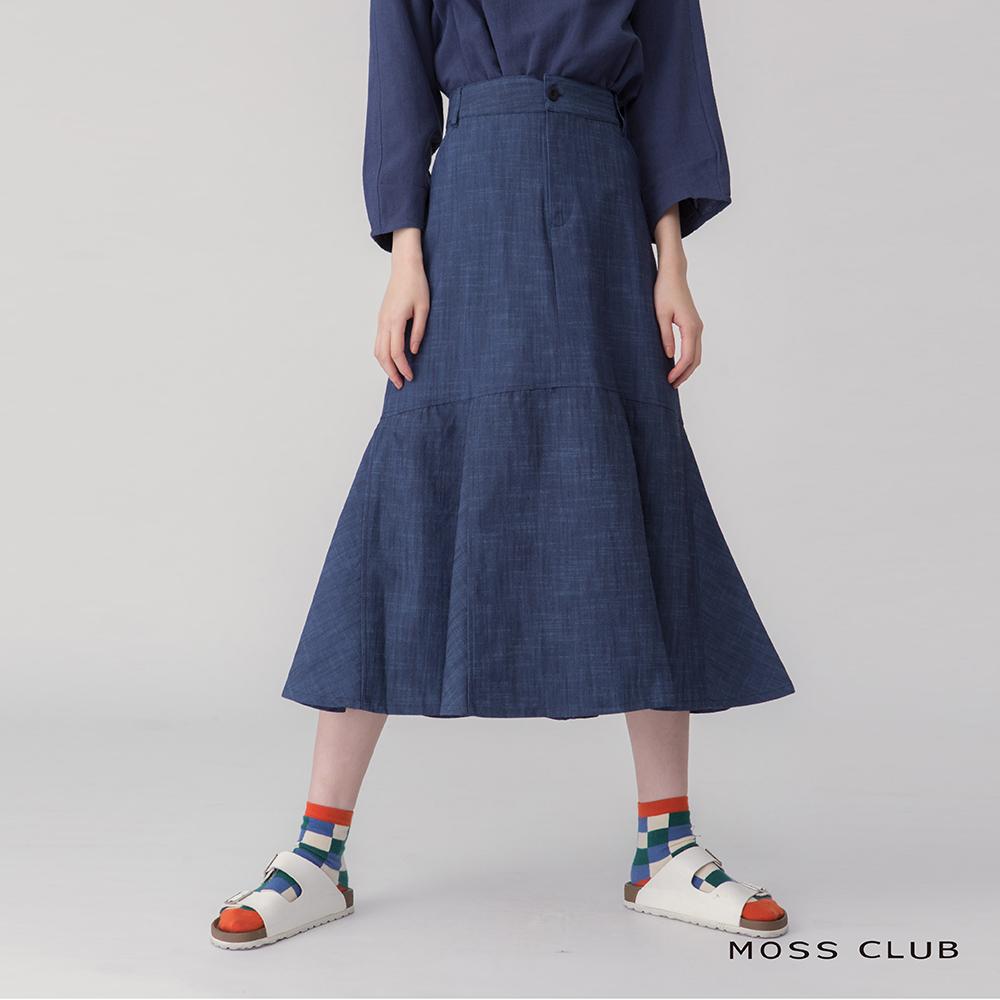 【MOSS CLUB】丹寧魚尾設計-長裙(藍色) product image 1