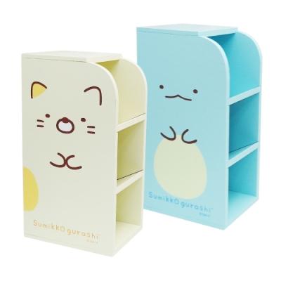 角落小夥伴-木製三層直立置物盒-2入組 混款銷售隨機出貨