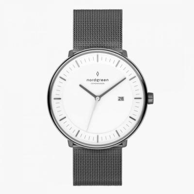 Nordgreen Philosopher 深空灰米蘭帶腕錶-40mm(PH40GMMEGUXX)