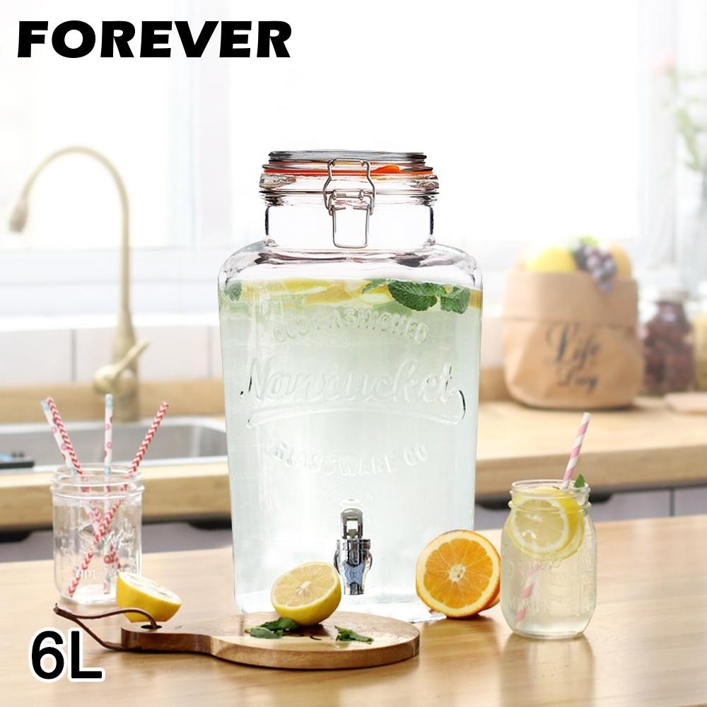 日本FOREVER 夏天必備派對玻璃果汁飲料桶6L