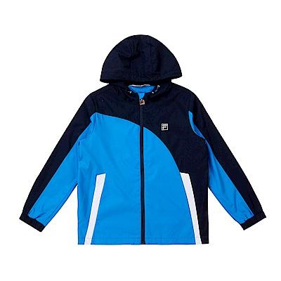FILA KIDS 童吸濕排汗風衣外套-藍 1JKS-8304-BU