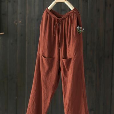 人棉吊檔休閒寬鬆潮流九分褲-設計所在