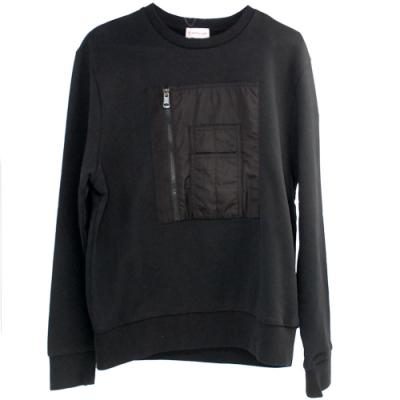 MONCLER MORELLO 皮革側標造型長袖T恤(M號/男款)
