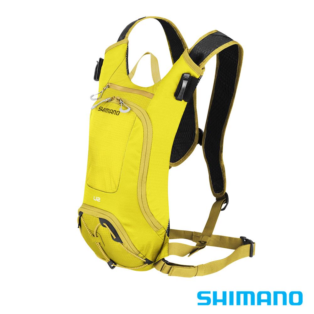 SHIMANO UNZEN 登山車水袋後背包2L 橄欖黃