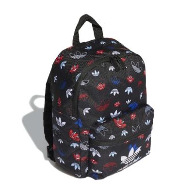 adidas 後背包 adidas Backpack 男女款 愛迪達 三葉草 滿版 外出 輕便 穿搭 黑 彩 GD3137