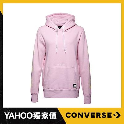 CONVERSE-女休閒帽T 10007512A01-櫻花粉