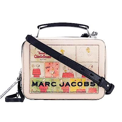 MARC JACOBS 史奴比聯名THE BOX 23漫畫米色手提/斜背方包