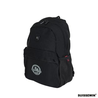 SUISSEWIN 多功能輕量後背包 黑色 外出包 旅遊包