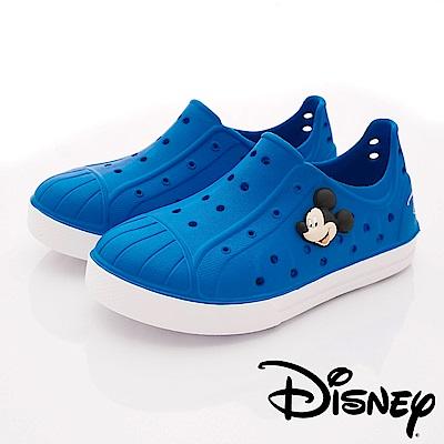 迪士尼童鞋 米奇超輕量洞洞鞋款 ON18188藍(中小童段)