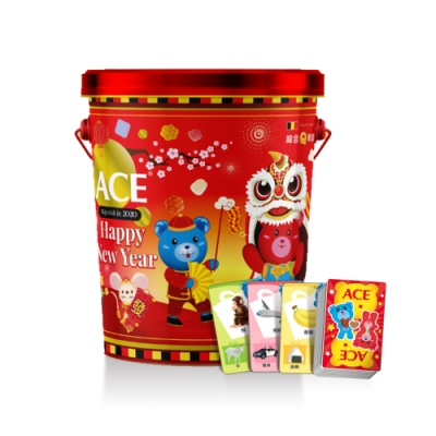 ACE 2020新年軟糖禮盒 小熊歡樂迎鼠年(430g*1桶)(內贈:桌遊)