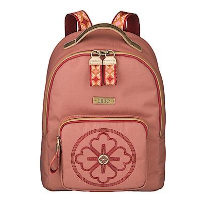 後背包-旅行款三葉草簡約系列-豆沙紅 LiliO